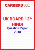 UK Board 12th Hindi Question Paper 2018