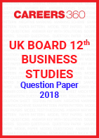 UK Board 12th Business Studies Question Paper 2018
