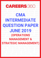 CMA Intermediate Question Paper June 2019 Operations Management and Strategic Management