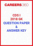 CDS I GK Question Paper & Answer Key 2018