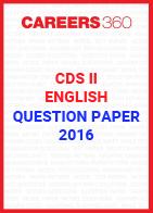CDS II Question Paper - English (2016)