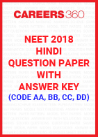 NEET 2018 Hindi Question Paper with Answer Key (Code AA, BB, CC, DD)