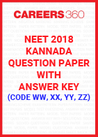 NEET 2018 Kannada Question Paper with Answer key (code WW, XX, YY, ZZ)