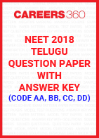 NEET 2018 Telugu Question Paper with Answer Key (Code AA, BB, CC, DD)