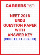 NEET 2018 Urdu Question Paper with Answer Key (Code EE, FF, GG, HH)