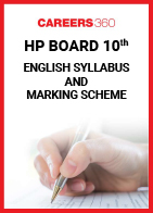 HP Board 10th English Syllabus & Marking Scheme 2020