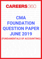 CMA Foundation Question Paper June 2019- Fundamentals of Accounting