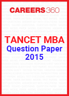 TANCET MBA Question Paper 2015