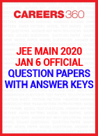 JEE Main 2020 January 6 Official Question Paper with Answer Key