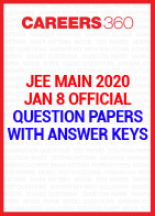 JEE Main 2020 January 8 Official Question Paper with Answer Key