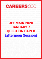 JEE Main 2020 Paper 1 Official Question Paper (Afterrnoon Session) - January 7
