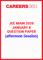 JEE Main 2020 Paper 1 Official Question Paper (Afterrnoon Session) - January 8