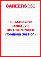JEE Main 2020 Paper 1 Official Question Paper (Forernoon Session) - January 8