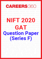 NIFT 2020 GAT Question Paper - Series F