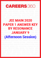 JEE Main 2020 Paper 1 Answer Key by Resonance January 9 (Afternoon Session)