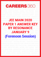 JEE Main 2020 Paper 1 Answer Key by Resonance January 9 (Forenoon Session)
