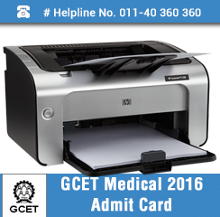 GCET Medical 2016 Admit Card