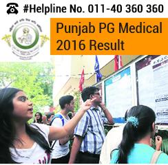 Punjab PG Medical 2016 Result