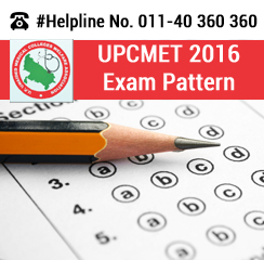 UPCMET 2016 Exam Pattern