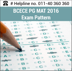 BCECE PGMAT 2016 Exam Pattern