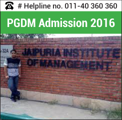 Jaipuria Institute of Management announces PGDM admission 2016