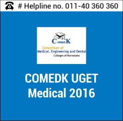 COMEDK UGET Medical 2016