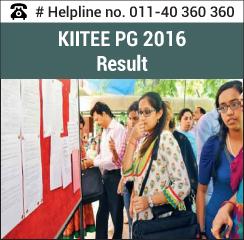 KIITEE PG Medical 2016 Result