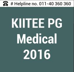 KIITEE PG Medical 2016