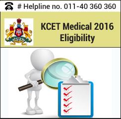 KCET Medical 2016 Eligibility