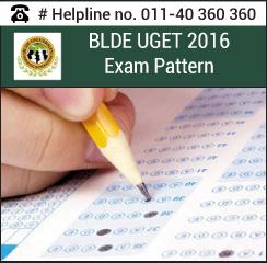 BLDE UGET 2016 Exam pattern