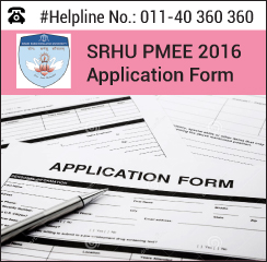 SRHU PMEE 2016 Application form