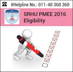 SRHU PMEE 2016 Eligibility