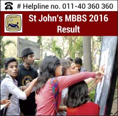 St. John's MBBS 2016 Result