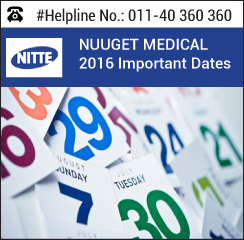 NUUGET Medical 2016 Important Dates