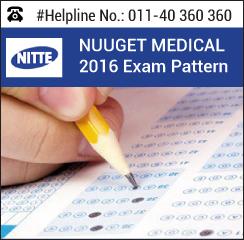 NUUGET Medical 2016 Exam pattern