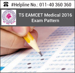 TS EAMCET Medical 2016 Exam Pattern