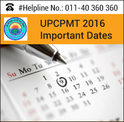 UPCPMT 2016 Important Dates