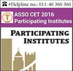 ASSO CET 2016 Participating Colleges