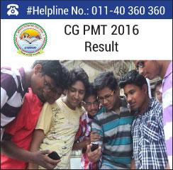 CG PMT 2016 Result
