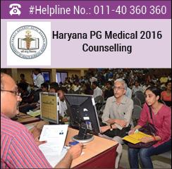 Haryana PG Medical 2016 Counselling