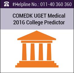 COMEDK UGET Medical 2016 College Predictor