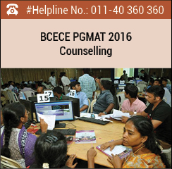 BCECE PG MAT 2016 Counselling
