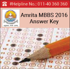 Amrita MBBS 2016 Answer Key