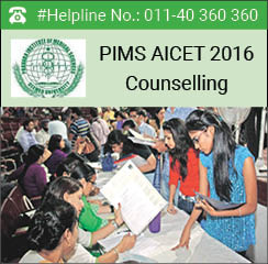 PIMS AICET 2016 Counselling