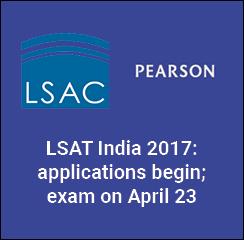 LSAT India 2017: applications begin; exam on April 23