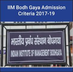IIM Bodh Gaya Admission Criteria 2017-19 - Overall CAT Cutoff reduced from last year