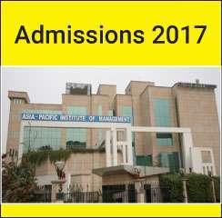 Asia Pacific Institute of Management announces PGDM Admissions 2017