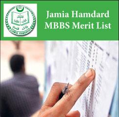 Jamia Hamdard MBBS Merit List 2017