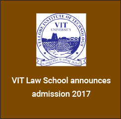 VIT Law School announces admissions 2017