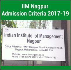 IIM Nagpur Admission Criteria 2017-19: 50 per cent weightage assigned to CAT score